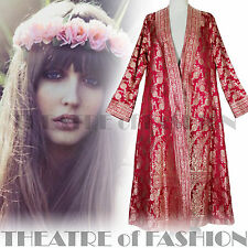 VINTAGE COAT 70s DRESS JACKET M L XL 10 12 14 16 18 20 INDIAN BOHO HIPPY WEDDING