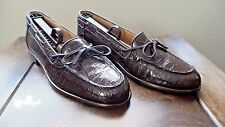 NICE $895 Zelli Brown Genuine Crocodile Alligator Moccasin Loafer Shoe Boot Polo