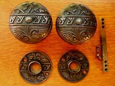 "Antique Fancy Iron Victorian Doorknobs Door Knobs & Roses 1881 ""Diagonal"" Corbin"
