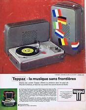 Publicité Advertising 016 1968 Teppaz electrophone