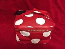 Forever 21 Red-White Polka Dot  Makeup-Cosmetic Bag -Case *NEW*