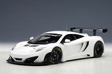 McLaren 12C GT3, White 1:18 AUTOart 81341 Brand New Diecast Car Model