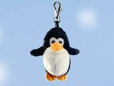 Rudolph Schaffer Pingy penguin key ring - SC211, Black & White , Metal & Plush