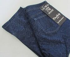 NWT Miracle Body Slimming Jeans Printed Indigo Denim Size 4 Capri Cropped