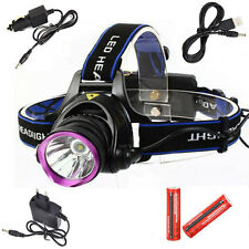 5000LM XM-L T6 LED Headlamp Headlight Head Torch Lamp Light+18650+AC/Car Charger