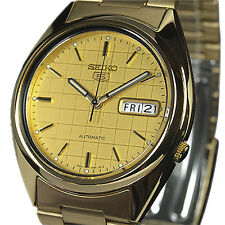 SEIKO 5 MEN'S AUTO GOLD TONE CASUAL DRESS SNXL72K1 SNXL72