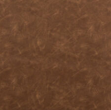 Saddle Brown Faux Cow Hide Leather Grain Soft Vinyl Upholstery Fabric