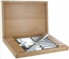 ZWILLING J.A. Henckels 8-pc Stainless Steel Steak Knife Set w/ Wooden Case NEW