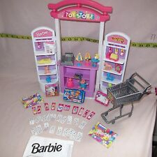Barbie 1998 Toy Store Playset Hot Wheels & Accessories furniture Shopping Lot