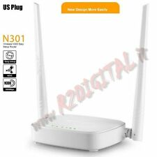 ACCESS POINT TENDA N301 WIRELESS 300M N 2 ANTENNE RIMOVIBILI LAN WAN WIFI ROUTER