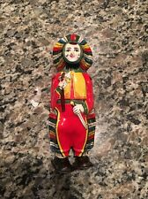 VINTAGE J CHEIN TIN WIND UP CLOWN