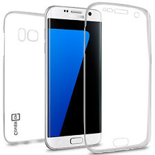 CoverON for Samsung Galaxy S7 Edge Case - Full Body Slim TPU Phone Cover Clear