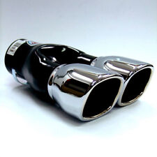 Twin Exhaust Pipes Muffler Chrome Fits Renault Scenic Clio Mk2 Mk3 Mk4 Fluence