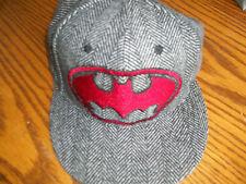 DC Comics Batman Logo Gray Baseball Mens Hat adj leather strap