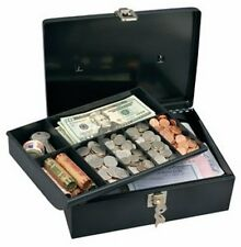 New Cash Box with 7 Compartment Tray Cashier Drawer Safe Key Money Currency Lock