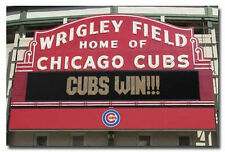 CUBS WIN POSTER - 22x34 SHRINK WRAPPED - CHICAGO WRIGLEY FIELD BASEBALL MLB 3313