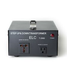 ELC T-2000 2000Watt Voltage Converter Transformer-Step Up/Down (110V/220V)