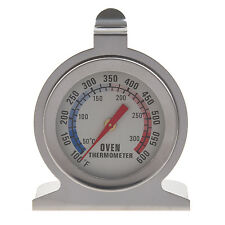 Stainless Steel Oven Thermometer - Hang Or Stand In Oven ED