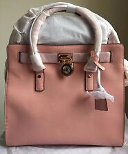 NWT MICHAEL KORS Hamilton Large Saffiano Leather Tote Handbag $358 Pale Pink