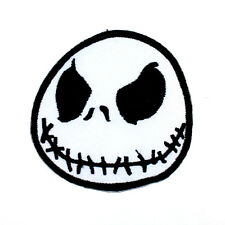 Jack Skellington Cartoon Helloween Kid Biker Rock Punk Jeans Shirt Iron on patch