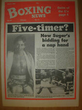 BOXING NEWS APRIL 8 1988 SUGAR RAY LEONARD HAS HIS SIGHTS ON DONNY LALONDE