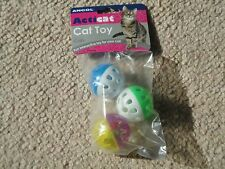 BNIP ANCOL PLASTIC BALLS WITH BELL CAT TOY 3 PACK