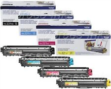 3 sets Virgin Genuine EMPTY Brother TN-221 / TN-225 Laser Cartridges 2 Extra Blk