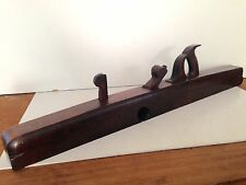 """ANTIQUE c. 1840s 34"""" RABBET WOOD PLANE UNMARKED RARE COLLECTIBLE ESTATE FIND"""