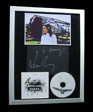 PJ HARVEY+SIGNED+FRAMED+ENGLAND SHAKE+GLORIOUS=100% AUTHENTIC+FAST GLOBAL SHIP