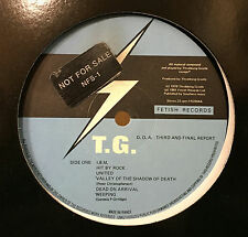 Throbbing Gristle D.o.A. The Third And Final Report LP VG+ France PROMO 1981