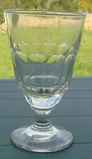 Verre à absinthe en verre taillé, côtes plates à 12 pans. Fin XIXe s.