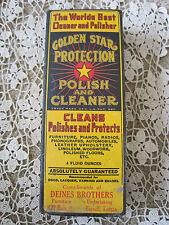 """World's Best Cleaner an Polisher Golden Star Russell Kansas 7""""x2.5""""x1.5""""  Box"""