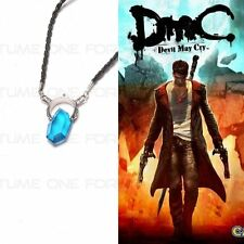 Top Devil May Cry DMC Cosplay Dante Blau Kristall Necklace Halskette Anhänger