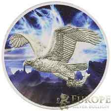 2014 1 Oz Ounce Silver Canadian Bald Eagle Coin Colorized GLOW IN THE DARK .999