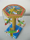AEROPLANE CAROUSEL LEVER ACTION WIND UP TIN MODEL TINY AIRCRAFT MERRY GO ROUND