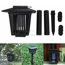 LED Solar Powered Outdoor Mosquito Fly Bug Insect Zapper Killer Control Lamp