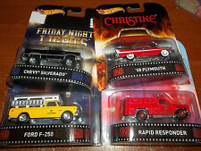 HOT WHEELS 1/64 RETRO CASE G SET OF 4 FRIDAY NIGHT LIGHTS EMERGENCY CHRISTINE