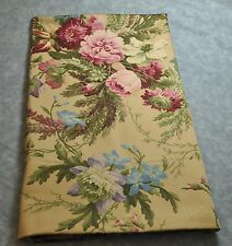 Standard Pillowcase made w/ Ralph Lauren Adriana Pink Rose Floral Brown Fabric