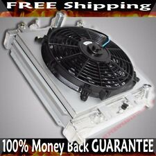 """2 Row Radiator 12"""" Fan + Shroud for 96-00 Civic DX/HX Coupe 1.6L Automatic ONLY"""