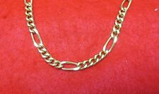 """24"""" 14KT GOLD EP 8MM FIGARO 3/1 CHAIN NECKLACE"""