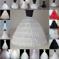 New WEDDING BRIDAL DRESS PROM PETTICOAT HOOPS UNDERSKIRT CRINOLINE REGULAR WAIST