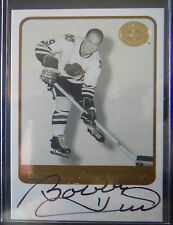 2001-02 Fleer GREATS Of The Game AUTOgraph **BOBBY HULL** SP! Chicago 2002 Fleer