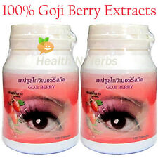 200 GOJI / LYCII BERRIES WOLFBERRY CAPSULES for SUPER EYES TONIC & ANTIOXIDANT