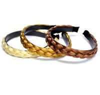 Headbands Synthetic Hair Extension Plaited Clip Elastic Braided Band Extensions