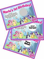 MY LITTLE PONY SCRATCH OFF OFFS PARTY GAMES CARDS BIRTHDAY PARTY FAVORS