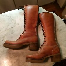 vintage '1970 platform knee disco LONDON TOWN  mens boots size 8.5 gay interest