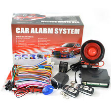 1-Way Auto Car Alarm Security System Keyless Entry&TWO 4-Button Remote Universal