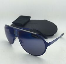 New Sunglasses CARRERA CHAMPION/MT 6VXXT Aviator Matte Blue Frame w/ Blue Mirror
