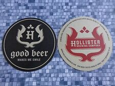 Beer Coaster ~  ~ HOLLISTER Brewing Co & Restaurant ~ Goleta, CALIFORNIA ~ Smile