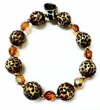 Joan Rivers Classic Leopard Print Bangle Style Women's Bracelet